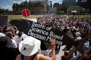 Death of Evidence rally, Ottawa, July10, 2012. PhotobyRichardWebster.